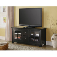 "Walker Edison Becket 52"" TV Console - Matte Black  - W52C2DWBL"