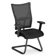 CLEARANCE! OFM Talisto Series Executive Fabric Seat Mesh Back Guest Chair - 595-F