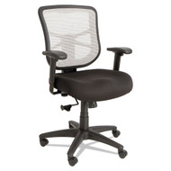 Alera Elusion Mesh Mid-Back Swivel Tilt Chair with White Back - EL42B04