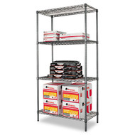 Alera Wire Shelving Starter Kit, 4 Shelves - SW50-3618