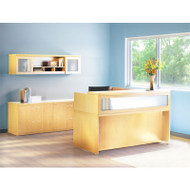 Mayline Aberdeen Reception Desk L-Shaped Package Maple - AT37-LMA
