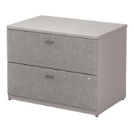 """BBF Bush Series A Lateral File Cabinet in Pewter 36""""W Assembled - WC14554PSU"""