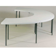 Correll Package FS-Series Blow-Molded Plastic Banquet Folding Tables - FS7