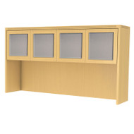 "* MONTHLY SPECIAL! Mayline Aberdeen Hutch with Glass Doors 72"" Maple - AHG72-LMA"