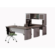 """* MONTHLY SPECIAL! Mayline Medina Laminate Executive 63"""" Desk U-Shaped Package Left - MNT33-LGS"""