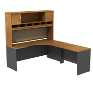 BBF Bush Series C Package Executive L-Shaped Desk Right Natural Cherry - SRC002NCR