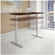"BBF Bush Series C 400  Height Adjustable Table Desk 48"" x 24"" Harvest Cherry - HAT4824CSK"