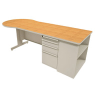 "Marvel Conference Desk with Bookcase 87"" Featherstone - ZTCB8730FT"