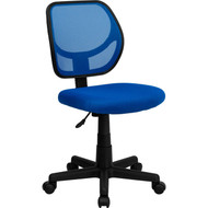 Flash Furniture Mid-Back Blue Mesh Task Chair and Computer Chair - WA-3074-BL-GG
