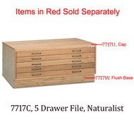 Mayline 5 Drawer Wood Plan File for 24 x 36 Sheets - 7717C