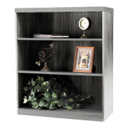* MONTHLY SPECIAL! Mayline Aberdeen Bookcase 3-Shelf Gray Steel - AB3S36-LGS
