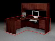 HON 10500 Series Large L Shaped Desk Workstation With Right Return - 10586LNN 10515RNN