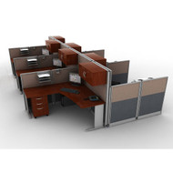* MONTHLY SPECIAL! Bush Office-in-an-Hour L-Shaped Desk Workstation Package - HRPackageC
