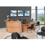 MONTHLY SPECIAL! OFM Marque 4-Unit Reception Station with ADA Desk - MARQUE1