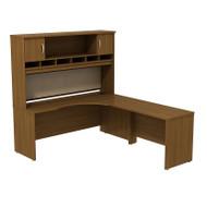 BBF Bush Series C Package Executive L-Shaped Desk Right Warm Oak - SRC002WOR