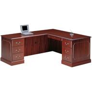 HON 94000 Series L Shaped Desk Workstation with Left Return - HONPackageA
