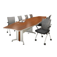 Mayline Transaction Series Conference Table 24' Boat Shaped - TAC24BB