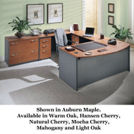 BBF Bush Series C Package Executive U-Shaped Bowfront Desk - SERIESC3