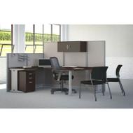 BBF Bush Office-in-an-Hour U-Shaped Desk Workstation Package Mocha - WC36896-03STGK