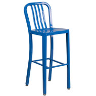 "Flash Furniture Blue Metal Indoor-Outdoor Barstool 30""H (2-Pack) - CH-61200-30-BL-GG"