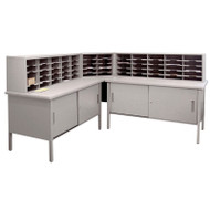 """Marvel 60 Adjustable Slot Literature Organizer with Cabinet Slate Gray 90""""W x 30""""D x 34-42""""H - UTIL0033"""