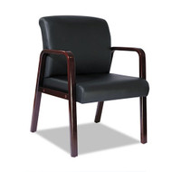 Alera Reception Lounge Series Guest Chair Black Leather - RL4319