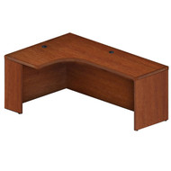 """* MONTHLY SPECIAL! Mayline Aberdeen Extended Corner Desk Table 72"""" Left Cherry Finish - AEC72L-LCR"""