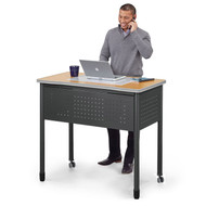 "MONTHLY SPECIAL! OFM Mesa Series Standing Height Steel Desk with 2 Utility Drawers 47"" - 66121"