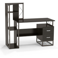Mayline SOHO Collection 1002 Modern Storage Desk with Shelves - 1002BB
