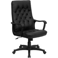 Flash Furniture High Back Traditional Black Leather Executive Swivel Office Chair - CP-A136A01-GG