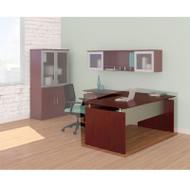 """* MONTHLY SPECIAL! Mayline Medina Laminate Executive Desk Straight 63"""" Mahogany - MNDS63-LMH"""
