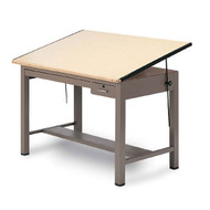 """Mayline Ranger Steel Four-Post Drafting Table with Tool and Shallow Drawers 72""""W x 43 1/2""""D - 7738B"""