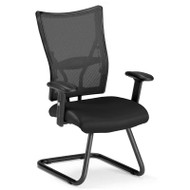 CLEARANCE! OFM Talisto Series Executive Leather Seat Mesh Back Guest Chair - 595-L
