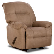 Flash Furniture Contemporary Calcutta Camel Microfiber Chaise Rocker Recliner - AM-9350-2600-GG