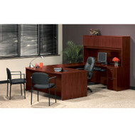 * MONTHLY SPECIAL! Basyx BL Laminate Series Executive U Shaped Desk Package - BasyxPackageB