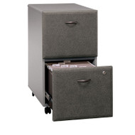 BBF Bush Series A 2-Drawer Mobile File Cabinet in Pewter Assembled - WC14552PSU
