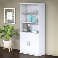 "Bush BBF Studio C Bookcase 5-shelf with Doors 36"" White - STC015WH"