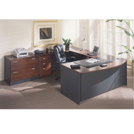 BBF Bush Series C Package Executive U-Shaped Bowfront Desk Hansen Cherry - HCPackageA