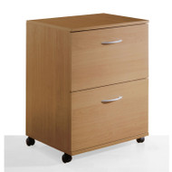 Nexera 2-Drawer Mobile File Natural Maple finish - 5093