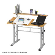Safco Height Adjustable Split-Level Drafting Table - 3965MO