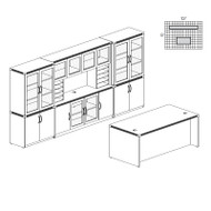* MONTHLY SPECIAL! Mayline Aberdeen Executive Desk & Storage Cabinet Package Gray Steel - AT35-LGS