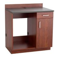 Safco Hospitality Appliance Base Cabinet , Mahogany/Rustic Slate - 1705MH