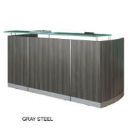 Mayline Medina Reception Station (No Pedestal Files) Gray Steel - MNRS-LGS