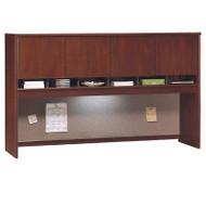 """BBF Bush Series C Desk Hutch 4-Door 72"""" Hansen Cherry - WC24477K"""