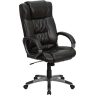 Flash Furniture High Back Espresso Brown Leather Executive Office Chair - BT-9002H-BRN-GG