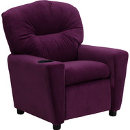 Flash Furniture Contemporary Kid's Recliner with Cup Holder Purple Microfiber - BT-7950-KID-MIC-PUR-GG