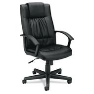 Basyx Black Vinyl Executive High-Back Chair - VL141EN11