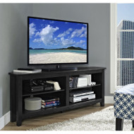 "Walker Edison Essential 58"" Corner TV Console, Black - W58CCRBL"