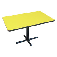 "Correll Bar and Cafe Breakroom Table Rectangle with Cross-Base 30""x48"" - BCT3048"