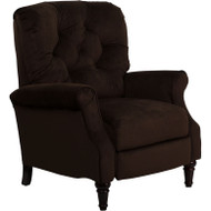 Flash Furniture Traditional Chocolate Microfiber Tufted Hi-Leg Recliner - AM-2650-6800-GG